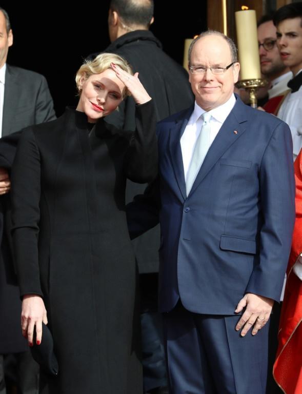 Le prince Albert II et la princesse Charlène, à Monaco, le 27 janvier 2019 [VALERY HACHE / AFP/Archives]