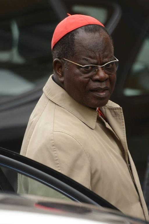 Le cardinal Laurent Monsengwo Pasinya arrive au Vatican pour le conclave, le 9 mars 2013 [FILIPPO MONTEFORTE / AFP/Archives]