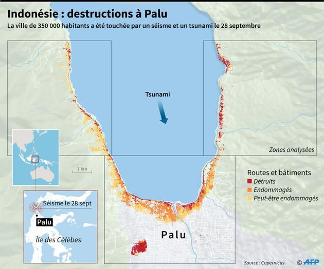 Indonésie : destructions à Palu [Simon MALFATTO / AFP]