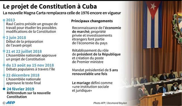 Le projet de Constitution à Cuba [Nicolas RAMALLO / AFP]