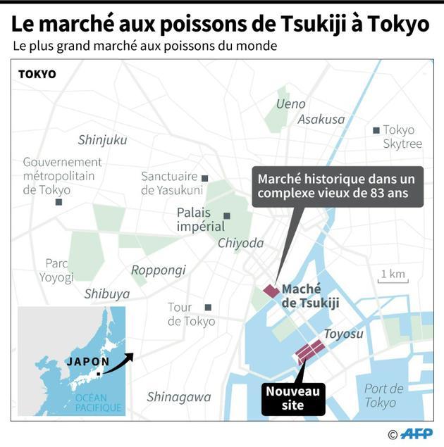 Le marché aux poissons de Tsukiji [Gal ROMA / AFP]