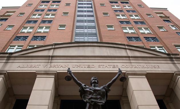 Le tribunal d'Alexandria en Virginie où se déroule le procès pour fraude de Paul Manafort, ancien directeur de campagne  de Donald Trump [Jim WATSON / AFP]