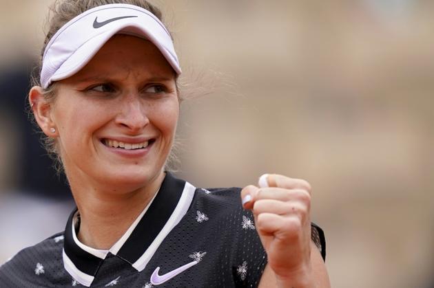 La Tchèque Marketa Vondrousova se qualifie en finale de Roland-Garros le 7 juin 2019 [Kenzo TRIBOUILLARD / AFP]