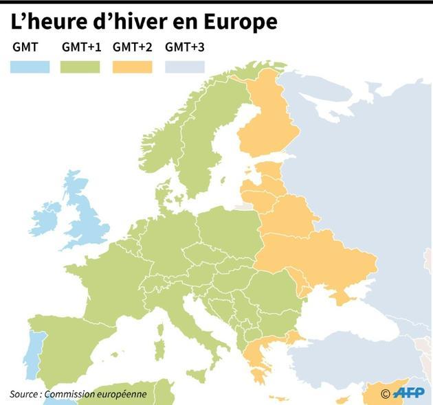 L'heure d'hiver en Europe [AFP / AFP]