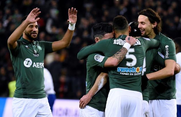 L'AS Saint-Etienne a dominé le RC Strasbourg lors du match en retard disputé à Geoffroy-Guichard, le 13 février 2019 [JEAN-PHILIPPE KSIAZEK / AFP/Archives]