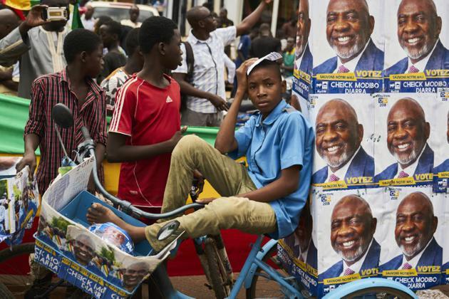 Partisans du candidat Cheick Modibo Diarra à la présidentielle au Mali,  Bamako, 27 juillet 2018 [Michele CATTANI / AFP]