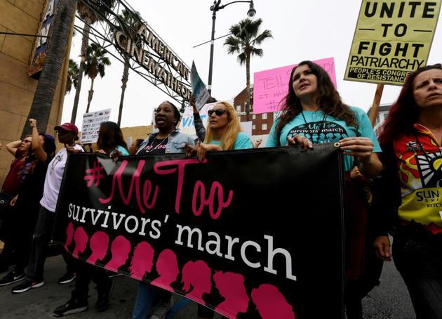 Une manifestation #MeToo, le 12 novembre 2017 à Hollywood, en Californie [Mark RALSTON / AFP/Archives]