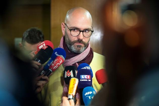 François Devaux, l'une des victimes du père Preynat, le 7 mars 2019 à Lyon [ROMAIN LAFABREGUE / AFP/Archives]