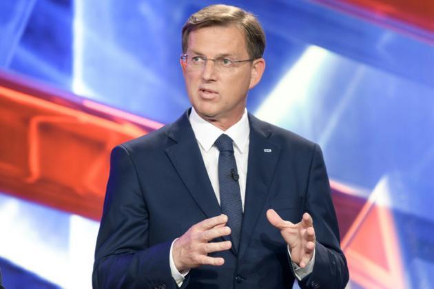 Le Premier ministre sortant Miro Cerar lors d'un débat télévisé à Ljubljana en Slovénie, le 28 mai 2018 [Jure Makovec / AFP/Archives]