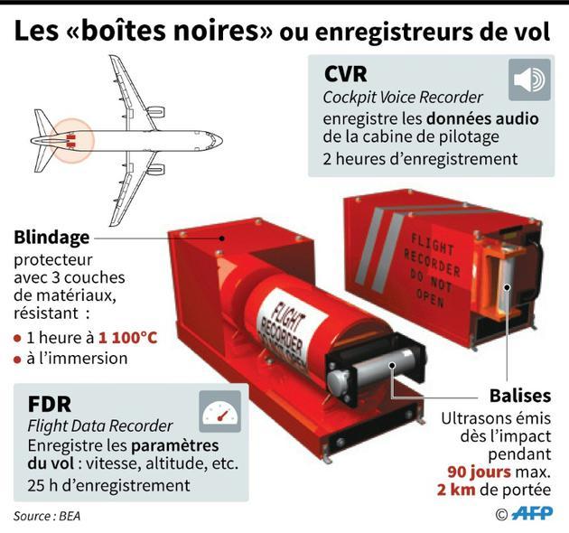 Les boîtes noires ou enregistreurs de vol [Sophie RAMIS / AFP]