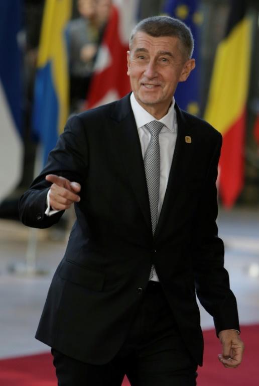Le Premier ministre tchèque Andrej Babis, le 10 avril 2019 à Bruxelles [Aris Oikonomou / AFP/Archives]