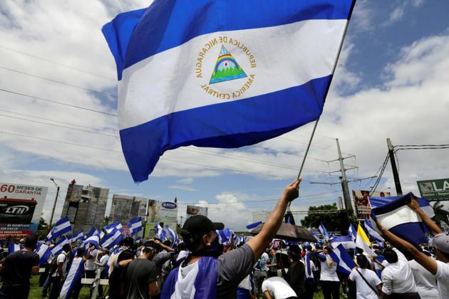 Manifestation de l'opposition nicaraguayenne à Managua, le 12 juillet 2018 [INTI OCON / AFP]