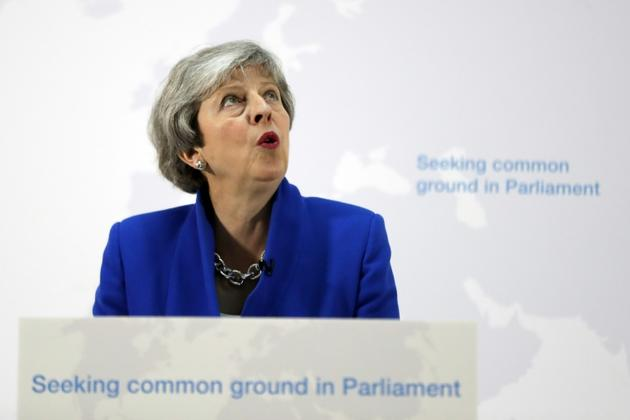 La Première ministre britannique Theresa May, le 21 mai 2019 à Londres [Kirsty Wigglesworth / POOL/AFP]