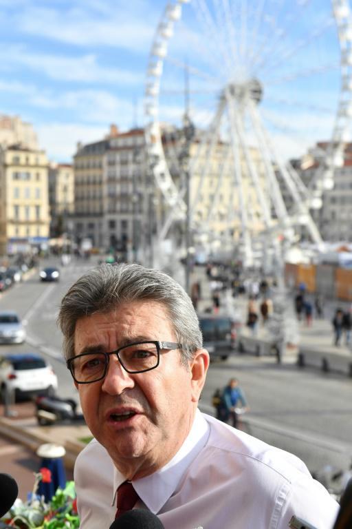 Le chef de file de la France insoumise, Jean-Luc Mélenchon, à Marseille le 1er décembre 2018 [GERARD JULIEN / AFP]