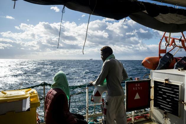 A bord du navire humanitaire Sea Watch 3, le 5 janvier 2019 [FEDERICO SCOPPA / AFP]