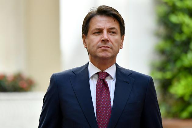 Le Premier ministre italien Giuseppe Conte à Rome le 11 juin 2018 [Alberto PIZZOLI / AFP]