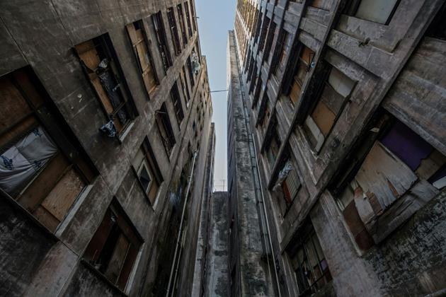 L'immeuble Prestes Maia, dans la banlieue de Sao Paulo au Brésil, le 14 mai 2018 [NELSON ALMEIDA / AFP/Archives]