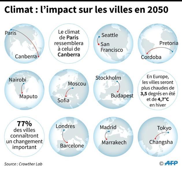 Climat : l'impact sur les villes en 2050 [Alain BOMMENEL / AFP]