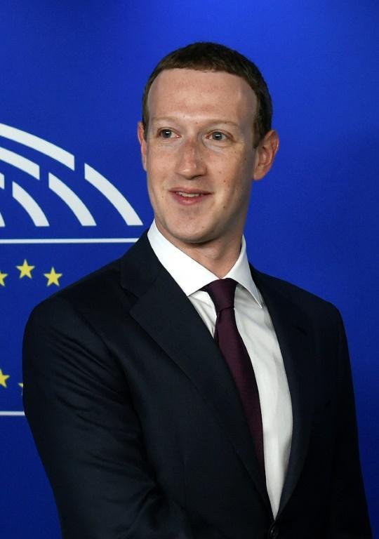 Le patron de Facebook Mark Zuckerberg, à Bruxelles le 22 mai 2018 [JOHN THYS / AFP]