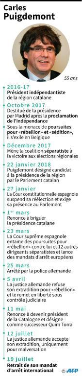 Carles Puigdemont [Sonia GONZALEZ / AFP]