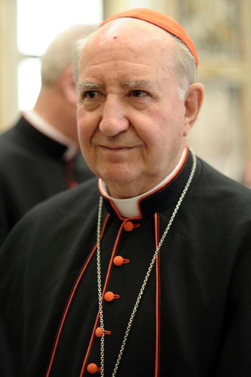 Le cardinal chilien Francisco Javier Errázuriz Ossa, au Vatican le 6 mars 2013 [- / OSSERVATORE ROMANO/AFP/Archives]