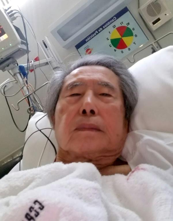 L'ex-président Alberto Fujimori, détenu dans une clinique de Lima, le 13 octobre 2018. [HO / AFP]