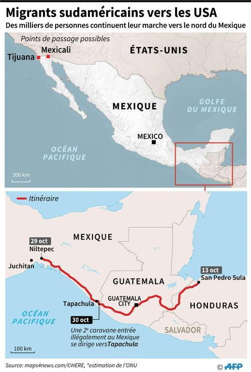 Migrants centraméricains vers les USA [Tatiana MAGARINOS / AFP]