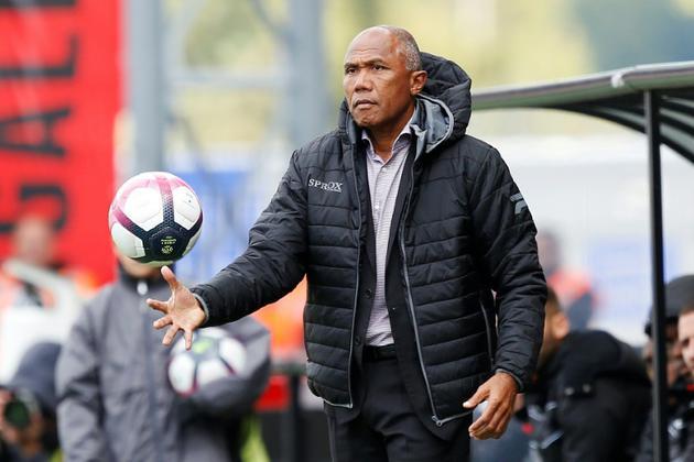 L'entraîneur de Guingamp Antoine Kombouaré lors du match face à Bordeaux, le 23 septembre 2018 au Roudourou [CHARLY TRIBALLEAU / AFP]