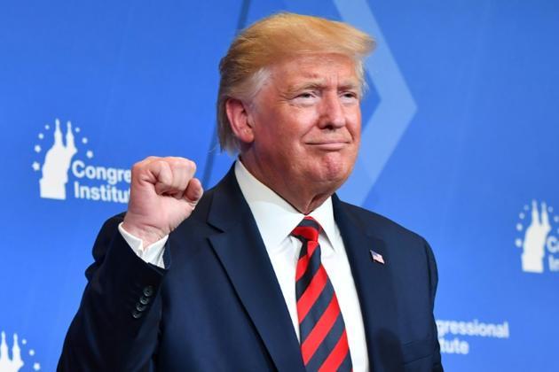 Le président américain Donald Trump s'exprime devant des élus républicains à Baltimore le 12 septembre 2019  [Nicholas Kamm / AFP]