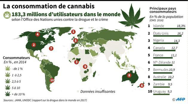 La consommation de cannabis [John SAEKI, Laurence CHU, Adrian LEUNG / AFP]