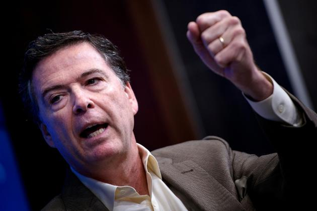 L'ancien directeur du FBI James Comey, le 11 mai 2018 à Washington [Brendan Smialowski / AFP/Archives]