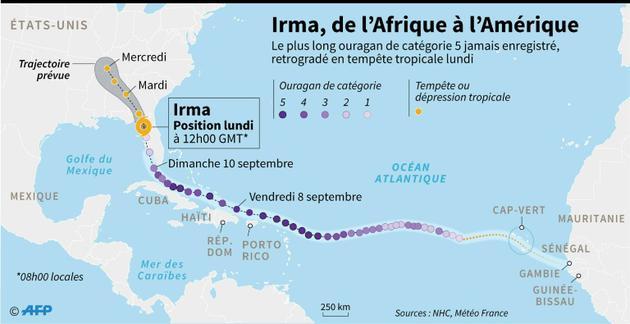Irma, de l'Afrique à l'Amérique [Kun TIAN / AFP]
