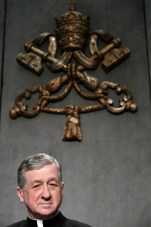 Le cardinal américain Blase Joseph Cupich, homme de confiance du pape François et un des quatre organisateurs de la réunion sur les agressions sexuelles dans l'Eglise, le 18 février au Vatican [Alberto PIZZOLI / AFP]
