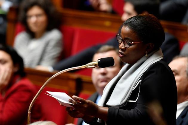 La députée Justine Benin à l'Assemblée nationale le 14 mars 2018 [GERARD JULIEN / AFP/Archives]