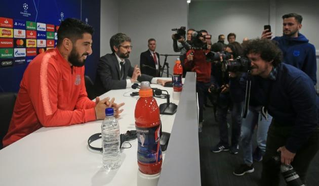 L'attaquant barcelonais Luis Suarez revient à Liverpool, où il avait évolué de 2011 à 2014, le 6 mai 2019 [Lindsey PARNABY / AFP]