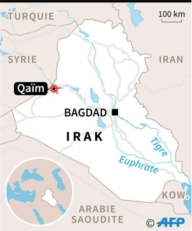 Carte de localisation de Qaïm en Irak [ / AFP/Archives]