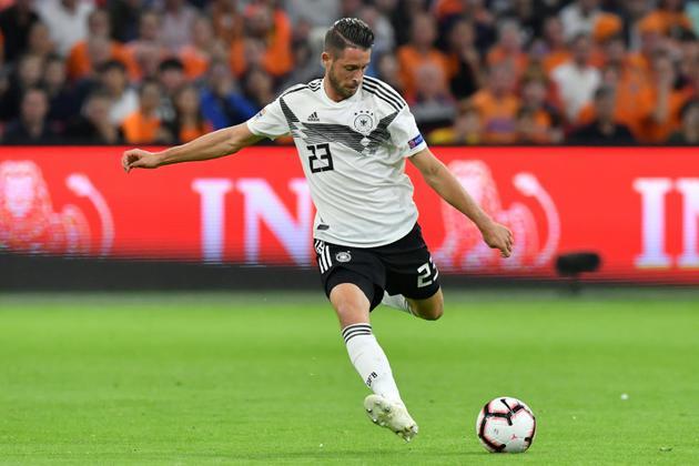 L'attaquant de l'Allemagne Mark Uth lors du match de la défaite à Amsterdam face aux Pays-Bas le 13 octobre 2018 en Ligue des nations [EMMANUEL DUNAND / AFP]