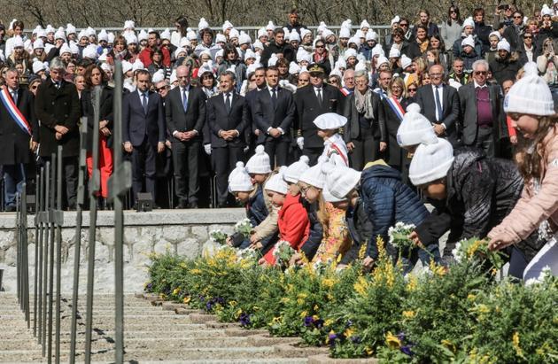Cérémonie d'hommage aux résistants du plateau des Glières, le 31 mars 2019 [ludovic MARIN / POOL/AFP]