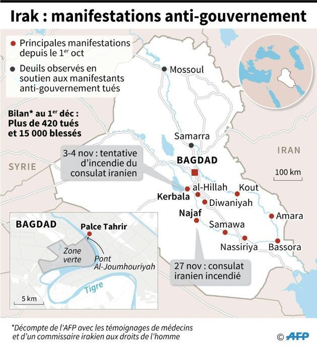 Irak : manifestations anti-gouvernement [Gal ROMA / AFP]