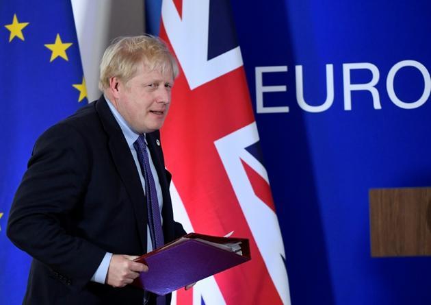 Le Premier ministre britannique Boris Johnson, le 17 octobre 2019 à Bruxelles [John THYS / AFP]
