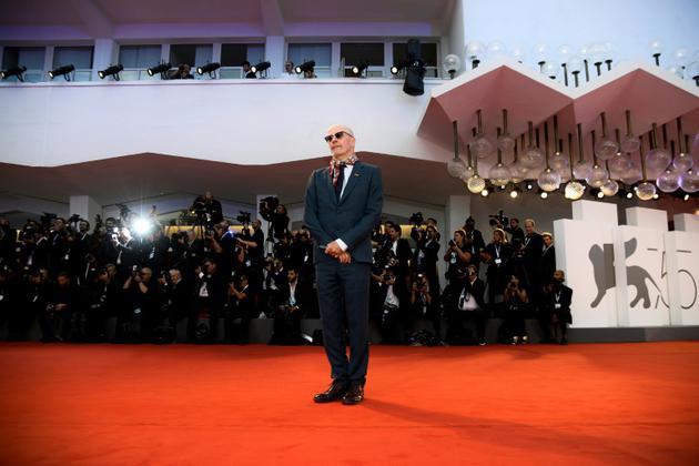 """Le réalisateur français Jacques Audiard arrive pour la première de son film """"Les Frères Sisters"""" (""""Sisters Brothers"""") en compétition à la Mostra de Venise, le 2 septembre 2018 [Filippo MONTEFORTE / AFP]"""