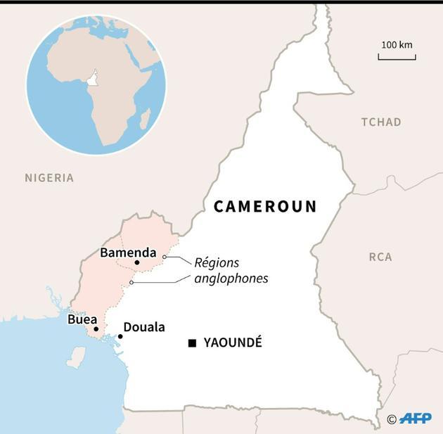 Carte du Cameroun et de ses régions anglophones [Valentina BRESCHI / AFP]