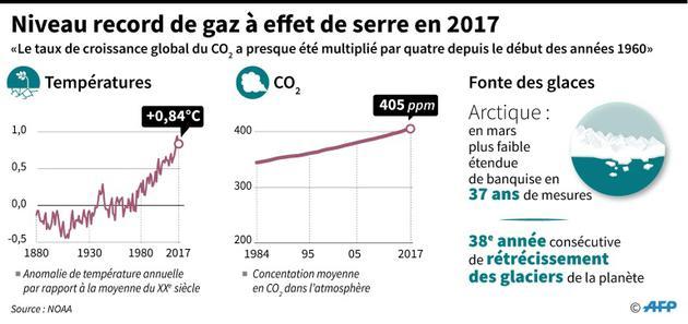 Niveau record des émissions de gaz à effet de serre en 2017 dans le monde [Simon MALFATTO / AFP]