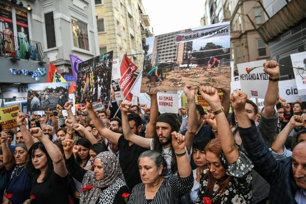 Manifestation, le 31 mai 2018 à Istanbul, pour commémorer le cinquième anniversaire du début du mouvement de Gezi [OZAN KOSE / AFP/Archives]