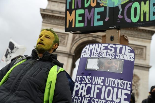 """Manifestation des """"Gilets Jaunes"""" le 9 mars 2019 à Paris [KENZO TRIBOUILLARD / AFP]"""