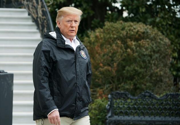 Donald Trump quitte la Maison Blanche pour se rendre en Alabama puis en Floride, le 8 mars 2019   [MANDEL NGAN / AFP]