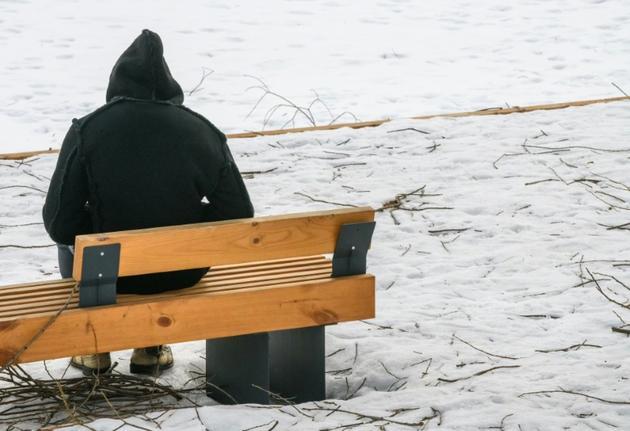 Lamin, un Gambien âgé de 23 ans, dans un parc en banlieue de Moscou, le 27 février 2019 [Mladen ANTONOV / AFP]