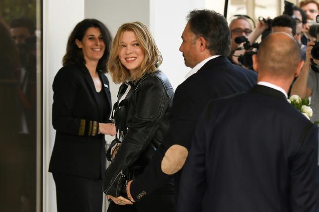Arrivée de l'actrice française, Léa Seydoux, membre du jury du Festival de Cannes, à l'hôtel Martinez, à Cannes, le 7 mai 2018 [Anne-Christine POUJOULAT             / AFP]