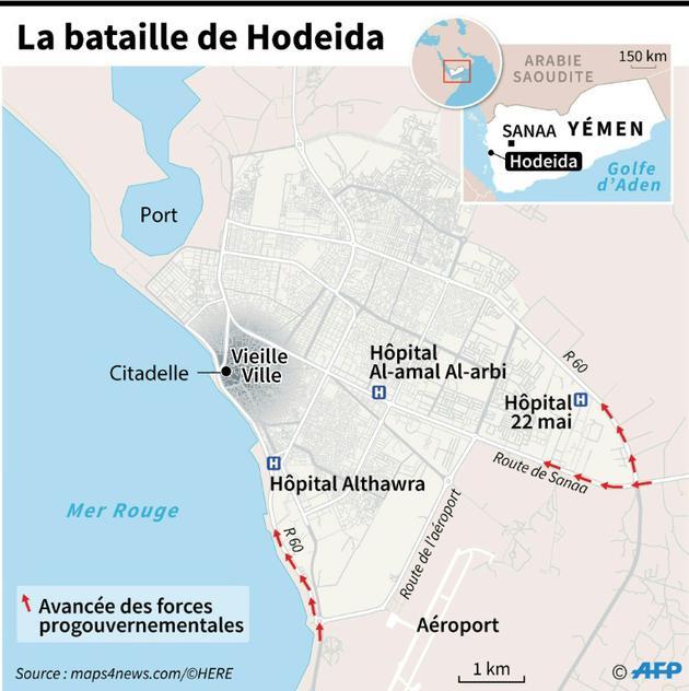 La bataille de Hodeida [Laurence SAUBADU / AFP]