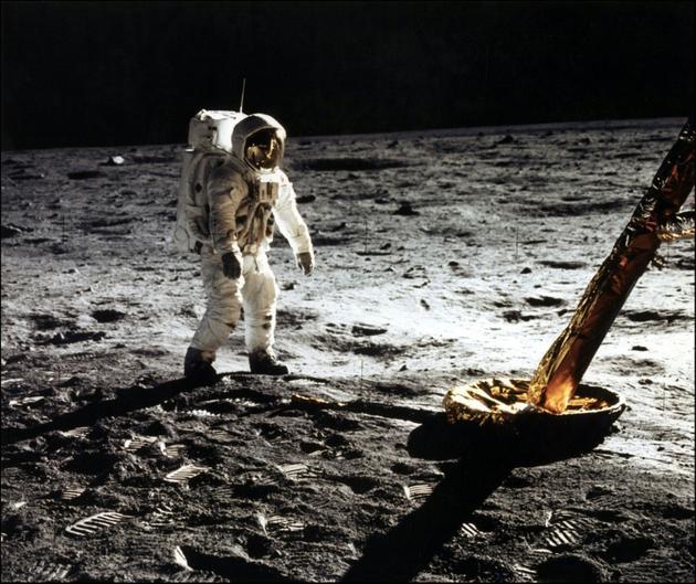 Buzz Aldrin sur la Lune, le 20 juillet 1969 [- / NASA/AFP/Archives]